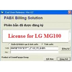 Phần mềm tính cước tổng đài LG MG100