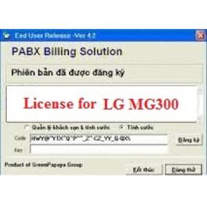 Phần mềm tính cước tổng đài LG MG300