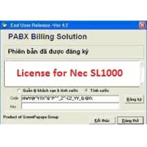 Phần mềm tính cước tổng đài NEC SL1000