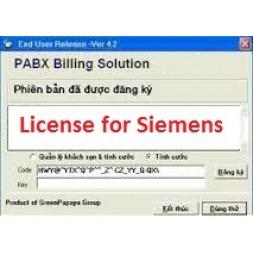 Phần mềm tính cước tổng đài Siemens