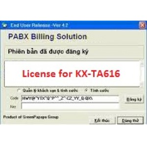 Phần mềm tính cước tổng đài KX-TA616