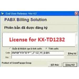 Phần mềm tính cước tổng đài KX-TD1232