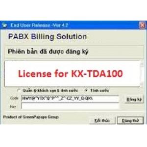 Phần mềm tính cước tổng đài KX-TDA100