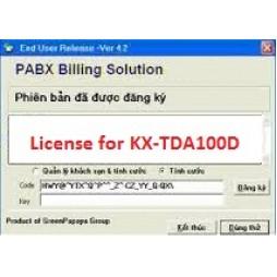 Phần mềm tính cước tổng đài KX-TDA100D