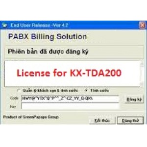 Phần mềm tính cước tổng đài KX-TDA200