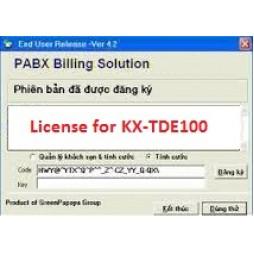 Phần mềm tính cước tổng đài KX-TDE100