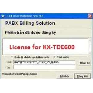 Phần mềm tính cước tổng đài KX-TDE600