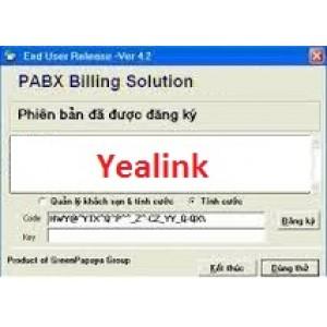 Phần mềm tính cước tổng đài Yealink