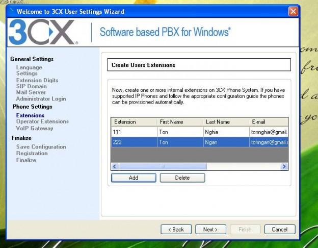 hướng dẫn phần mềm 3CX-11