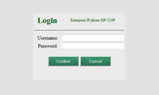 cài đặt tài khoản điện thoại ip yealink T19