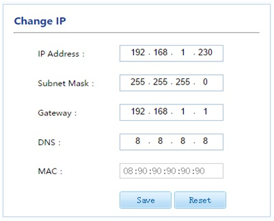 Thay đổi ip máy ghi âm Ar1600