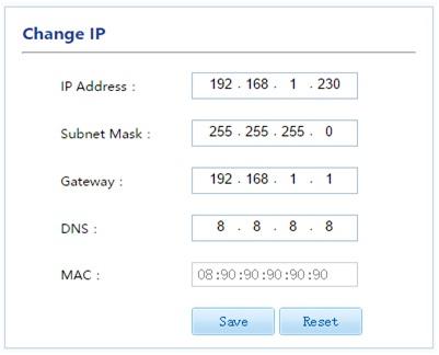 Thay đổi địa chỉ ip ghi âm ar200