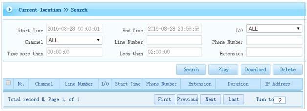 Tìm và nghe file ghi âm AR3200