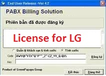 phần mềm tính cước tổng đài LG