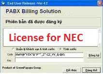 phần mềm tính cước tổng đài NEC
