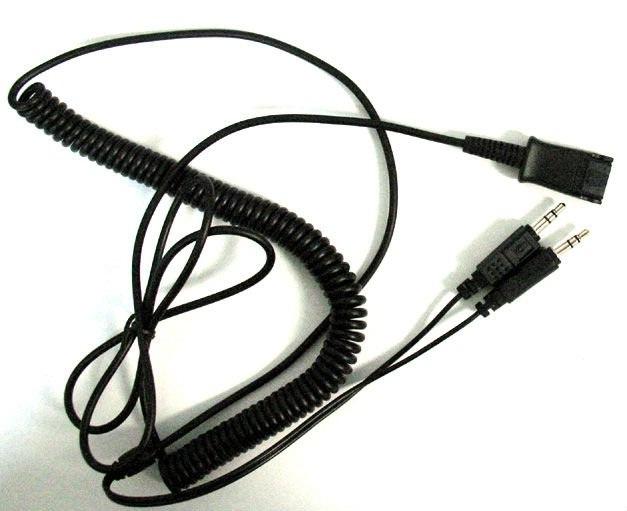 Cáp chuyển đổi 2.5mm kết nối tai nghe điện thoại ip